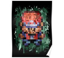 16-Bit Red Splatter Poster