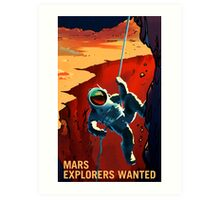 Nasa Mars Recruiting Poster - Explorers Wanted! Art Print