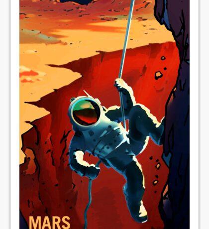 Nasa Mars Recruiting Poster - Explorers Wanted! Sticker