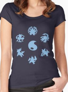 Water Type Starters Circle Women's Fitted Scoop T-Shirt
