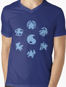Water Type Starters Circle Mens V-Neck T-Shirt