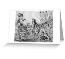 Off with their heads! (Alice and the Queen of Hearts) Greeting Card