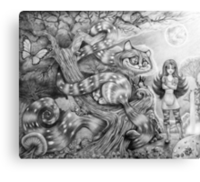 Alice and the Cheshire Cat Canvas Print