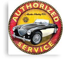 Austin Healey 100 Authorized service sign Canvas Print