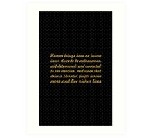 """Human beings have... """"Daniel Pink"""" Inspirational Quote Art Print"""