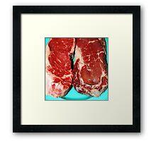 New York Steak Raw Framed Print