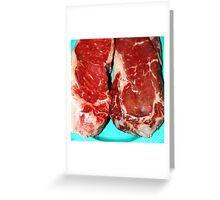 New York Steak Raw Greeting Card