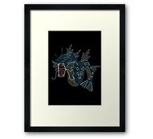 Ornate Gyarados Framed Print
