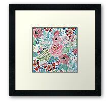 Pretty watercolor hand paint floral artwork Framed Print