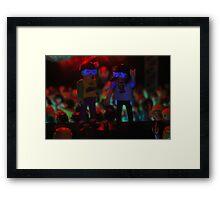 Dancing on speakers Framed Print