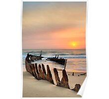 Shipwreck - Dickie Beach - Queensland - Australia Poster