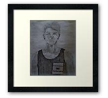 Punk Flower Boy Framed Print