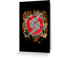 Metroid Symbol Splatter Greeting Card