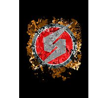 Metroid Symbol Splatter Photographic Print