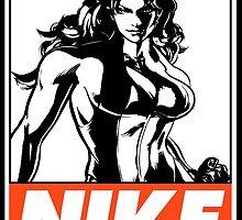 She-Hulk Nike Obey Design by SquallAndSeifer