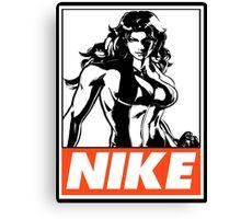 She-Hulk Nike Obey Design Canvas Print
