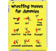 wrestling moves for dummies iPad Case/Skin