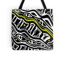 Yellow, black and white abstraction Tote Bag