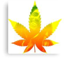 Weed Leaf Bob Marley Canvas Print