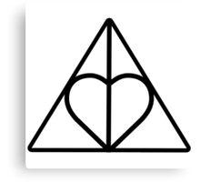 The Deathly Hallows - Heart Canvas Print