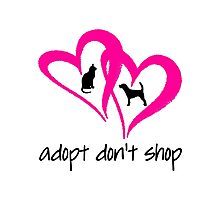 ADOPT A SHELTER PET (pink) Photographic Print