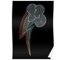Ornate Rainbow Dash Cutie Mark Poster
