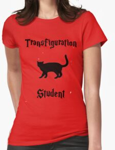 Transfiguration Student- Hogwarts Core Classes Womens Fitted T-Shirt