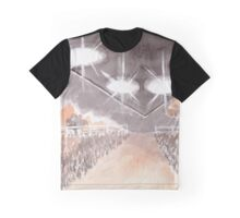 Rural UFO Visit Graphic T-Shirt