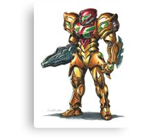 Metroid: Samus M.O.R. Suit Canvas Print