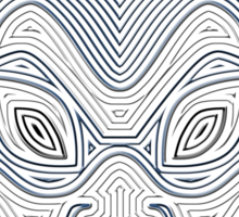 Ornate Blue Spirit Mask Sticker