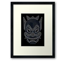 Ornate Blue Spirit Mask Framed Print