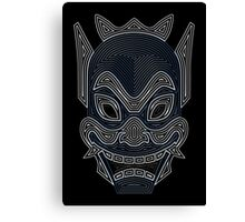 Ornate Blue Spirit Mask Canvas Print