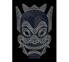 Ornate Blue Spirit Mask Photographic Print