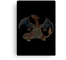 Ornate Charizard Canvas Print