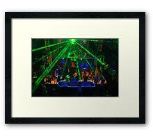 Laser light show Framed Print