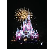 Disney Fireworks Photographic Print