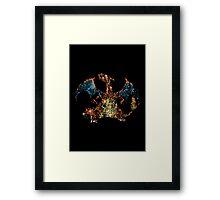 Charizard Splatter Framed Print