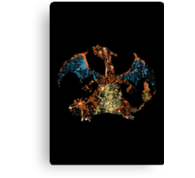 Charizard Splatter Canvas Print