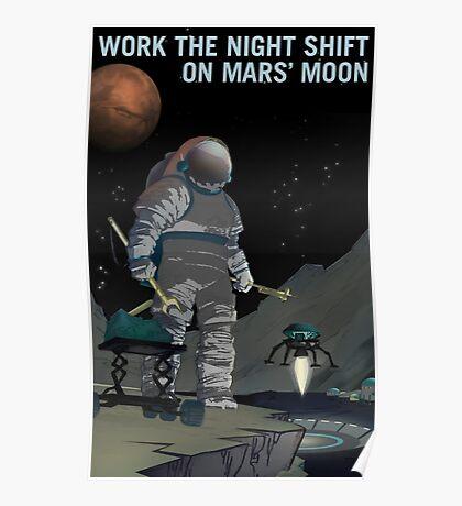 Nasa Mars Recruiting Poster - Night Shift Poster