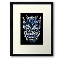 Blue Spirit Splatter Framed Print