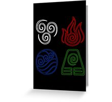 Four Elements Minimalist Greeting Card