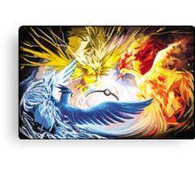 Pokemon Go - Mystic, Instinct, Valor Canvas Print