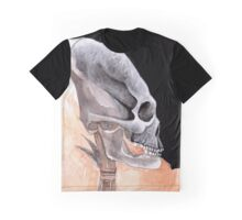 Ancient Elongated Skull Watercolor Graphic T-Shirt