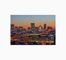 Boston and the Tobin Bridge at dusk. Unisex T-Shirt