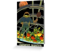 Nasa Mars Recruiting Poster - Farmers Wanted Greeting Card