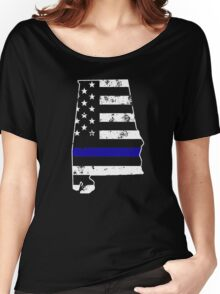 Alabama Thin Blue Line Police Women's Relaxed Fit T-Shirt