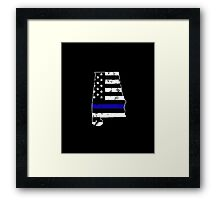 Alabama Thin Blue Line Police Framed Print