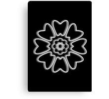 Minimalist White Lotus Canvas Print