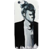 Harry Styles Black and White Painting  iPhone Case/Skin