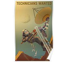Nasa Mars Recruiting Poster - Technicians Wanted Poster